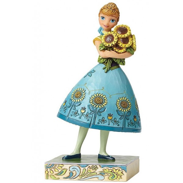 FIGURINE FROZEN FEVER ANNA PRINTEMPS FLEURI DISNEY TRADITIONS