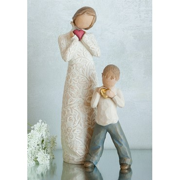 MAMAN ET FILS AMOUR POUR TOUJOURS WILLOW TREE