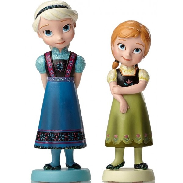 LOT ELSA ET ANNA PETITES PRINCESSES DISNEY SHOWCASE