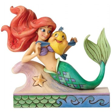 FIGURINE DISNEY TRADITIONS ARIEL ET POLOCHON