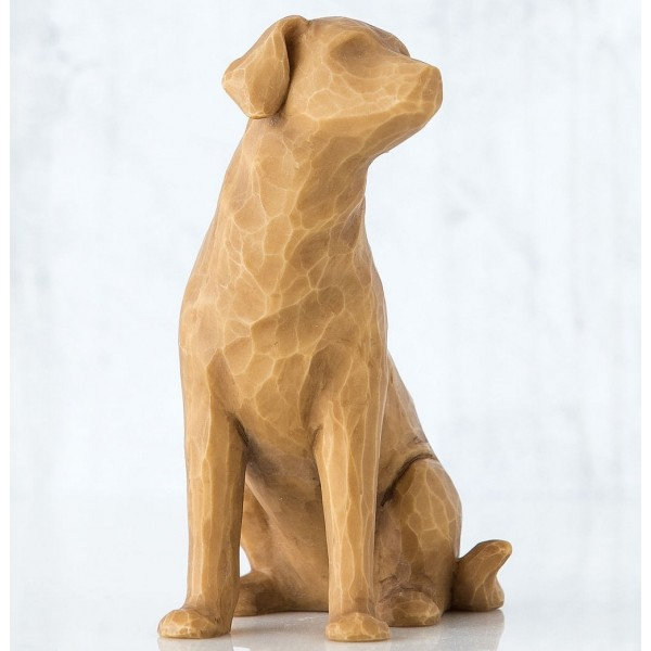 FIGURINE WILLOW TREE J'AIME MON CHIEN (VERSION CLAIRE)