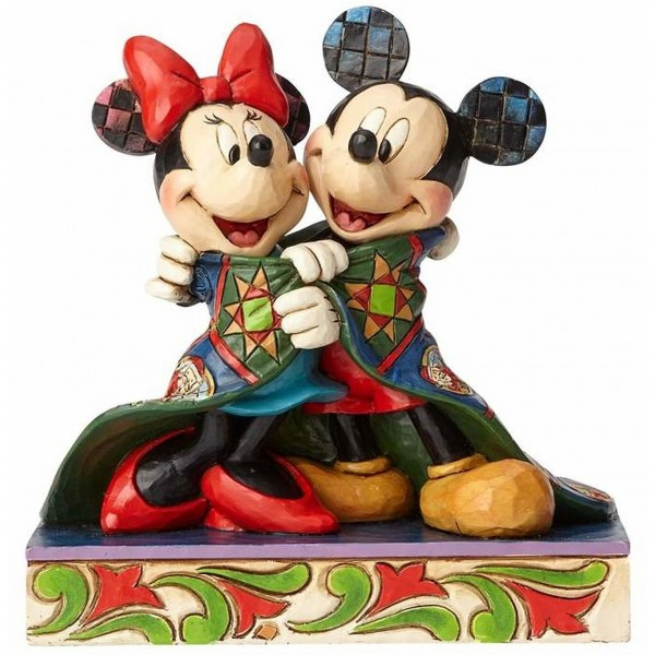 MICKEY ET MINNIE SOUS LA COUVERTURE DE NOËL DISNEY TRADITIONS