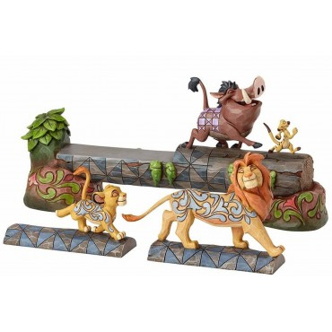 SIMBA TIMON ET PUMBAA FIGURINE DISNEY TRADITIONS