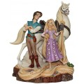 RAIPONCE FLYNN ET MAXIMUS WOODCARVED DISNEY TRADITIONS
