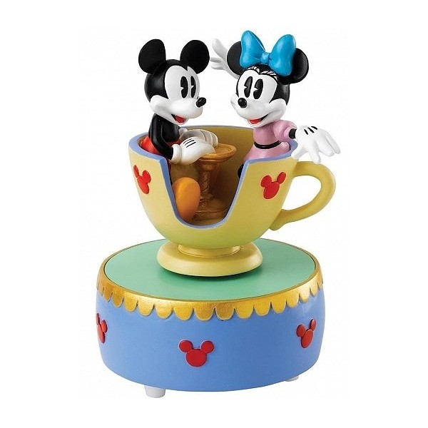 CARILLON MICKEY ET MINNIE DANS LA TASSE DU CARROUSEL DISNEY ENCHANTING