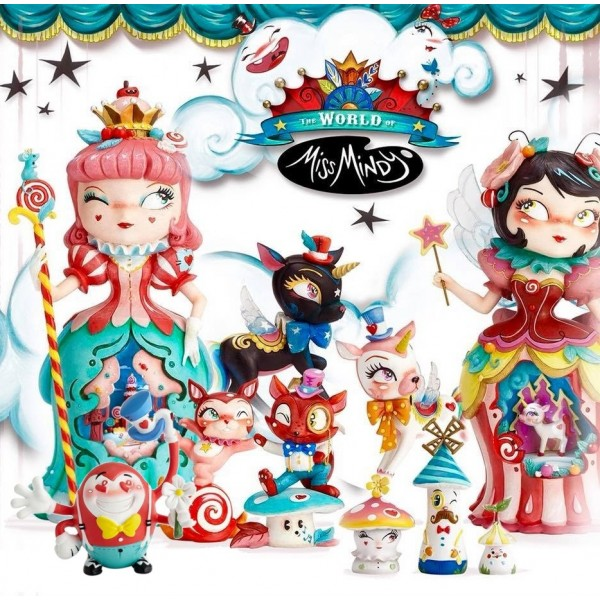 LOT COMPLET FIGURINES CANDY CIRCUS COLLECTION MISS MINDY