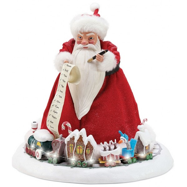 SANDY CLAWS AVEC TRAIN LUMINEUX DISNEY DEPT.56