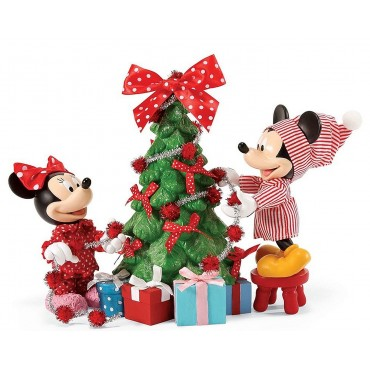 MICKEY MINNIE ET LE SAPIN DE NOËL DISNEY DEPT.56
