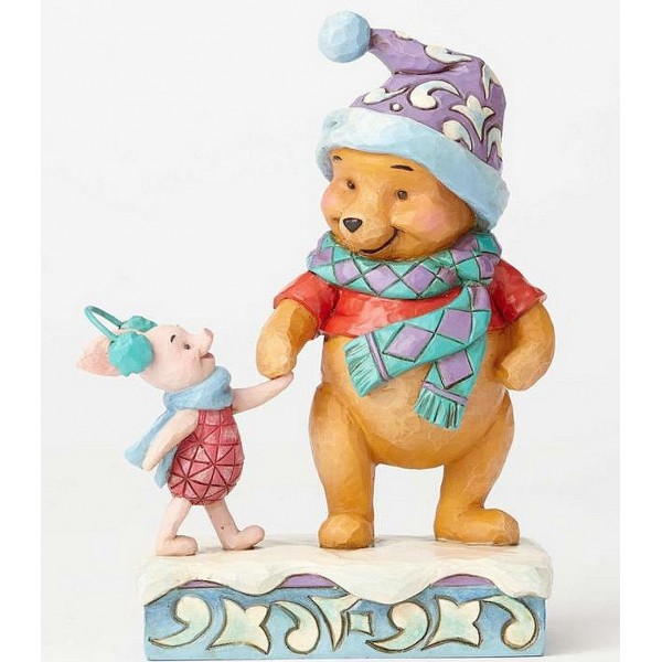 WINNIE ET PORCINET EN HIVER JIM SHORE DISNEY TRADITIONS
