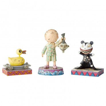 LOT DE 3 FIGURINES ÉTRANGE NOËL DE MR JACK - DISNEY TRADITIONS