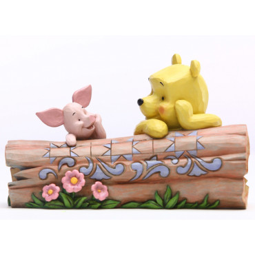 WINNIE ET PORCINET SUR LA BUCHE - DISNEY TRADITIONS