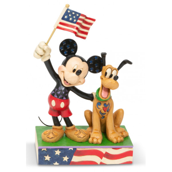 MICKEY ET PLUTO PATRIOTES - DISNEY TRADITIONS