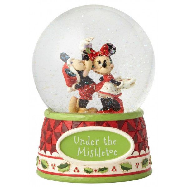 """""""MICKEY ET MINNIE SOUS LE GUI"""" SNOWBALL DISNEY TRADITIONS"""