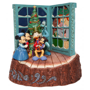 LE CHANT DE NOEL DE MICKEY WOODCARVED- DISNEY TRADITIONS