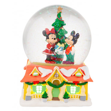 SNOWBALL MICKEY ET MINNIE A NOEL - DISNEY DEPT.56