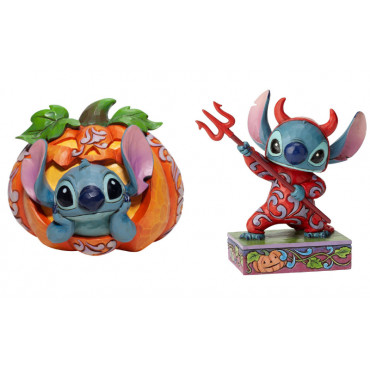 DUO STITCH HALLOWEEN - DISNEY TRADITIONS